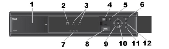 Front panel of the Bell 9242 HD PVR Plus receiver